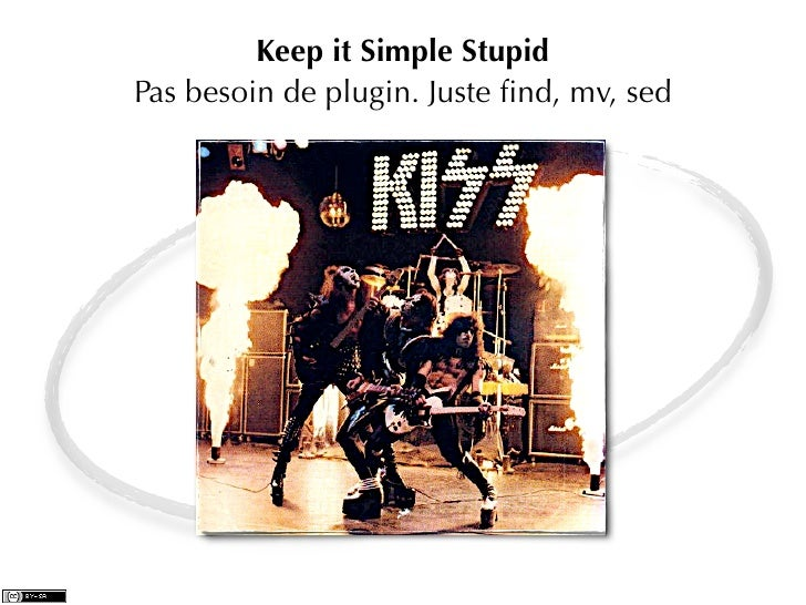 Keep it Simple StupidPas besoin de plugin. Juste find, mv, sed