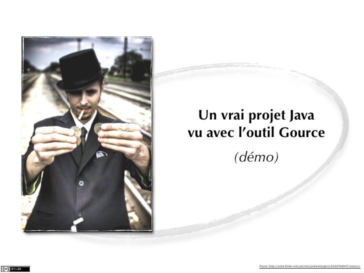 Un vrai projet Javavu avec l'outil Gource       (démo)           Photo: http://www.flickr.com/photos/joshwellington/3929748...