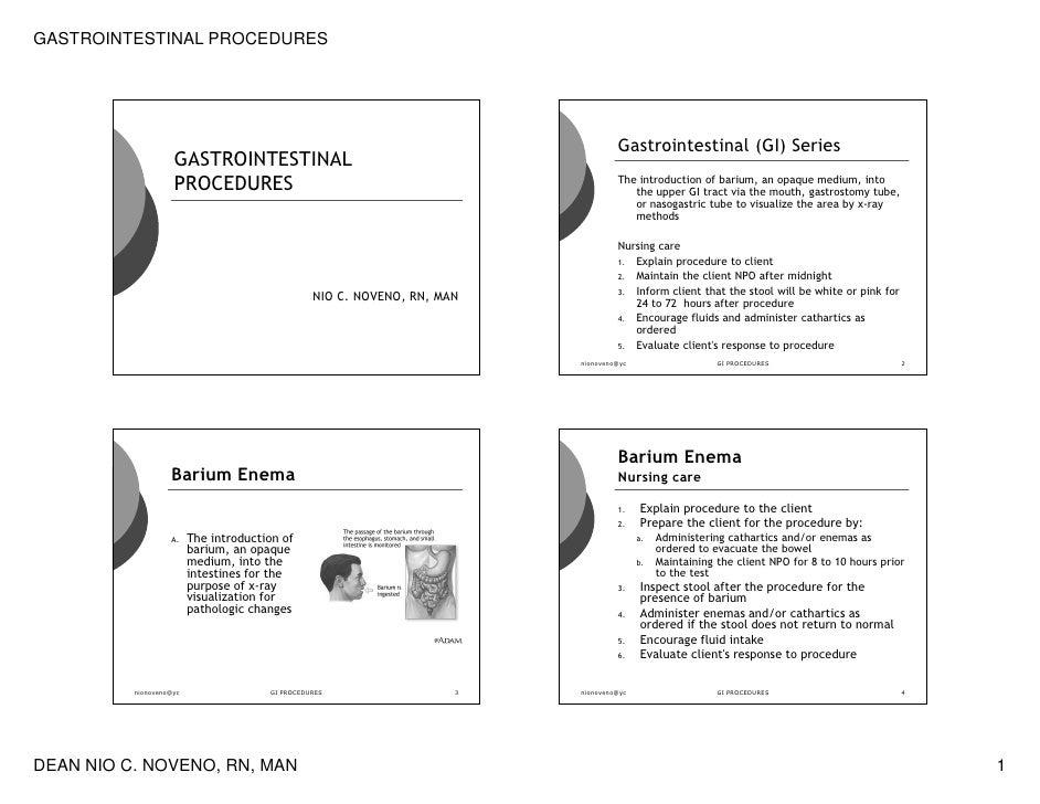GASTROINTESTINAL PROCEDURES                                                                                        Gastroi...
