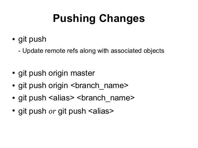 git push origin branch name