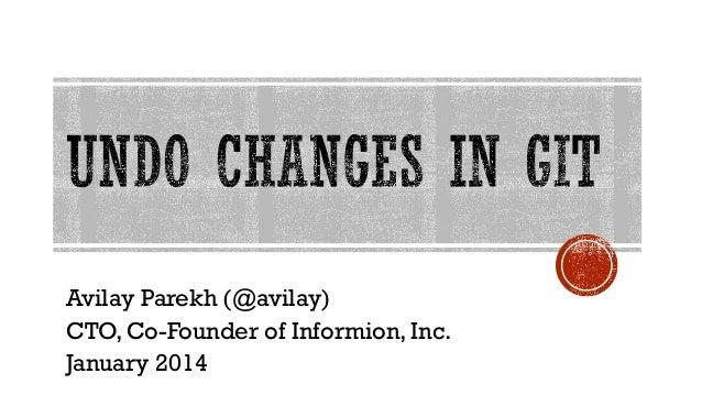 Avilay Parekh (@avilay) CTO, Co-Founder of Informion, Inc. January 2014