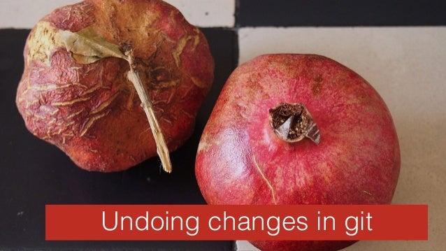 StatisticsUndoing changes in git