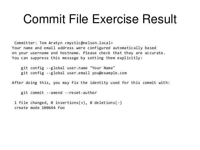Git Commit Amend Committer Vinny Oleo Vegetal Info