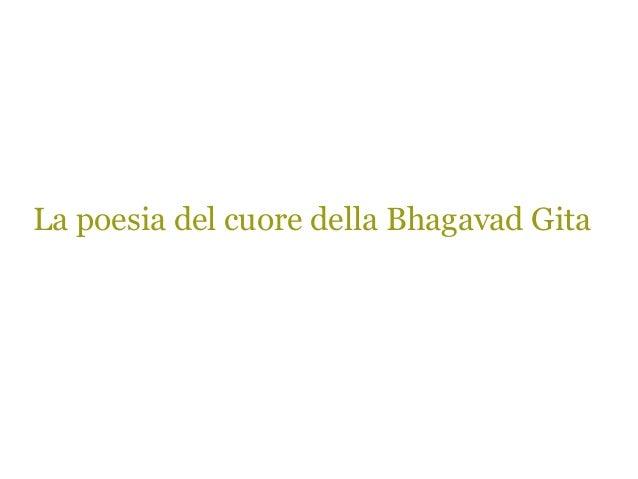 La poesia del cuore della Bhagavad Gita