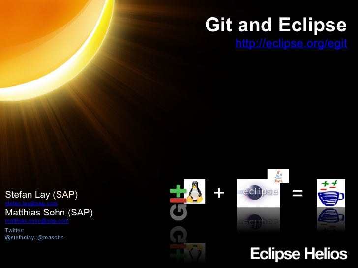 Git and Eclipse - Mannheim Java User Group - 2010-09-02