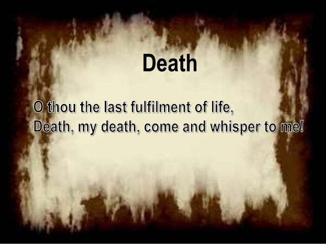 Poems For Death 5