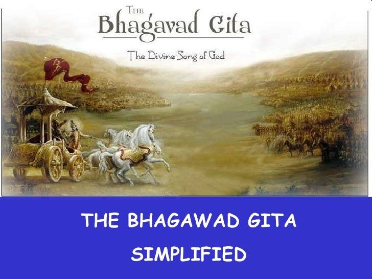 THE BHAGAWAD GITA <br />SIMPLIFIED<br />