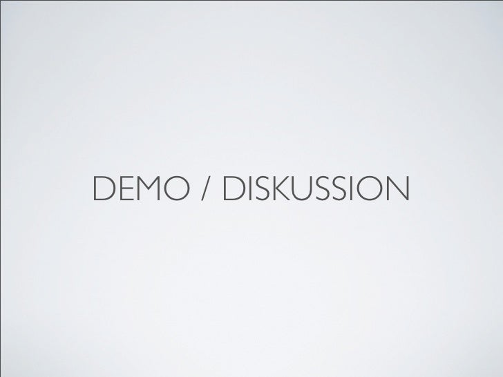 DEMO / DISKUSSION
