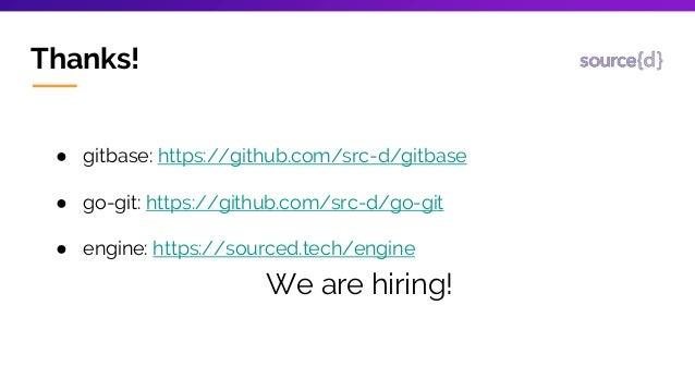 Gitbase, SQL interface to Git repositories