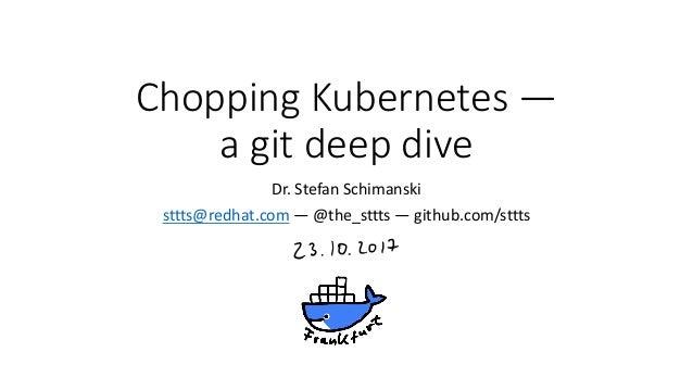 ChoppingKubernetes— agitdeepdive Dr.StefanSchimanski sttts@redhat.com — @the_sttts— github.com/sttts