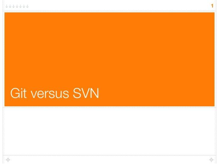 1Git versus SVN