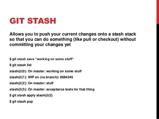 git stash apply