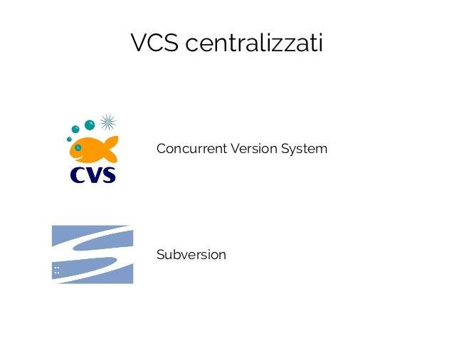 Concurrent Version System Subversion VCS centralizzati