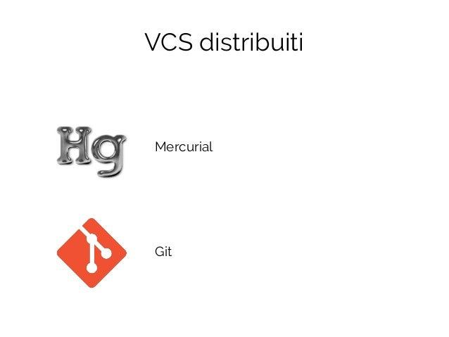 Mercurial Git VCS distribuiti