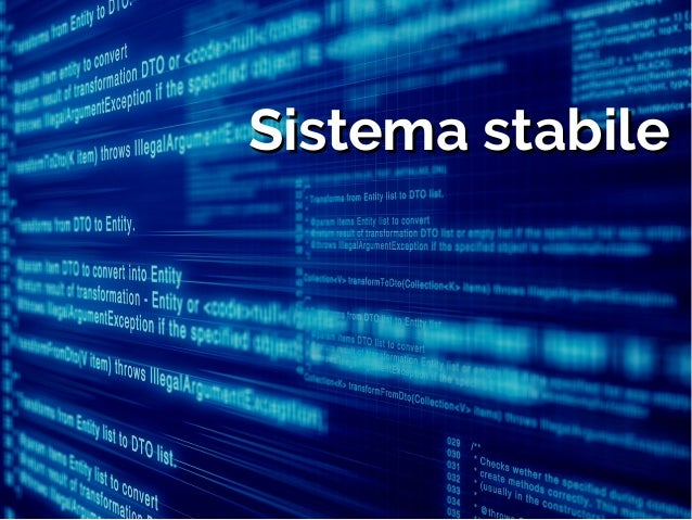 Sistema stabileSistema stabile