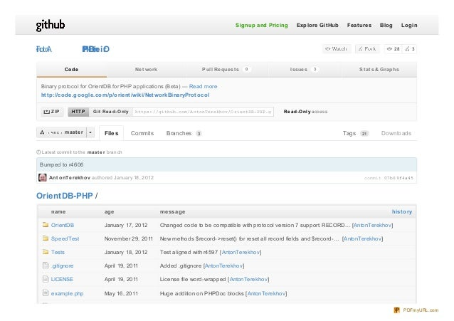 commit 07b69f4a45 Latest commit to the maste r branch Bumped to r4606 Ant onTerekhov authored January 18, 2012 Tags Downlo...