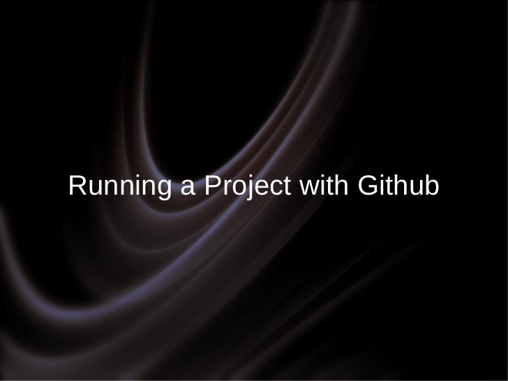 Running a Project with Github