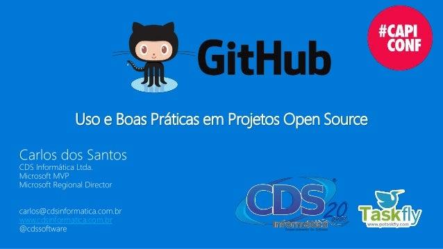 Uso e Boas Práticas em Projetos Open Source www.cdsinformatica.com.br