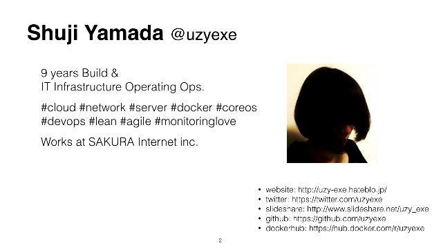 Shuji Yamada @uzyexe 9 years Build & IT Infrastructure Operating Ops. #cloud #network #server #docker #coreos #devops #l...