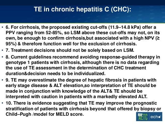 Fibrosure test for hepatitis c