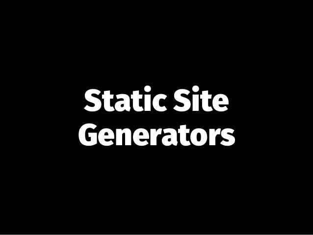 How to use any static site generator with GitLab Pages.  Slide 2