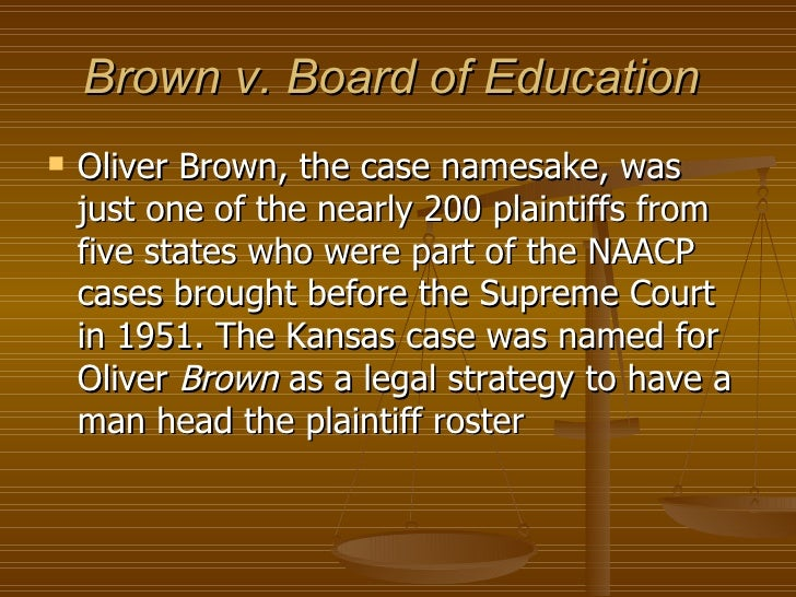 an overview of the brown and the naacp for the supreme court in 1951 The national association for the advancement of colored people (naacp) was   the us supreme court's unanimously ruled in the landmark case brown v.