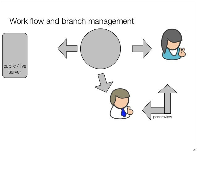 Work flow and branch management peer review public / live server 26
