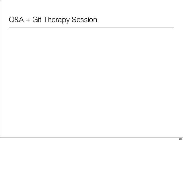 Q&A + Git Therapy Session 28