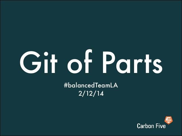 Git of Parts #balancedTeamLA 2/12/14