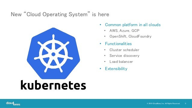 5© 2019 CloudBees, Inc. All Rights Reserved. • Common platform in all clouds • AWS, Azure, GCP • OpenShift, CloudFoundry •...