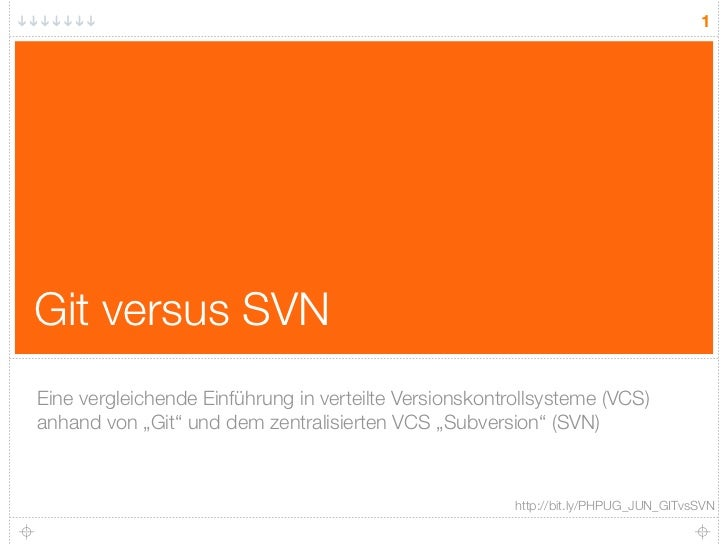 """1     Git versus SVN Eine vergleichende Einführung in verteilte Versionskontrollsysteme (VCS) anhand von """"Git"""" und dem zen..."""