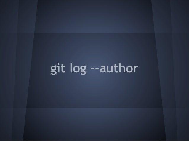 git log --author