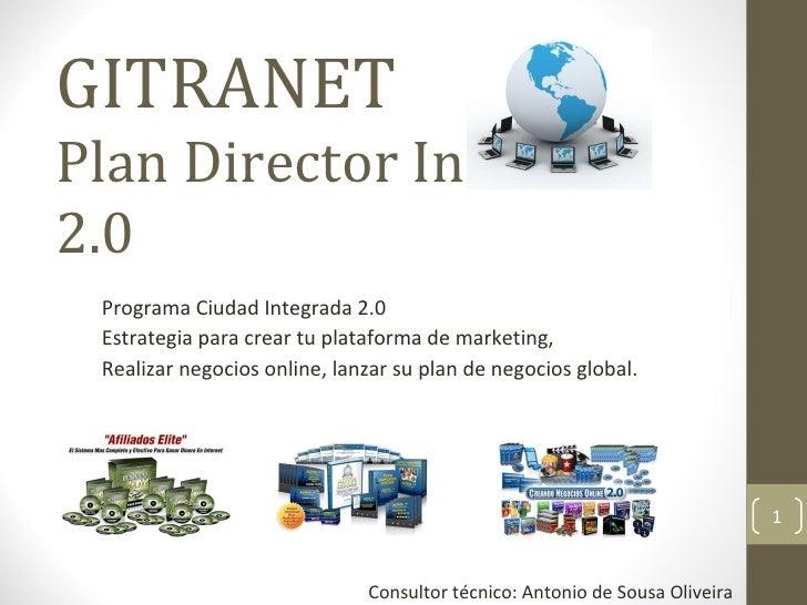 GITRANET Plan Director Internet 2.0 Programa Ciudad Integrada 2.0 Estrategia para crear tu plataforma de marketing, Realiz...
