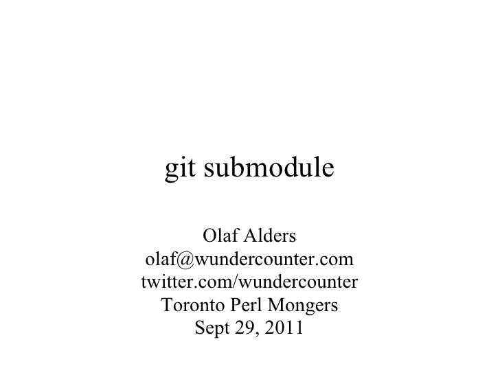 git submodule update