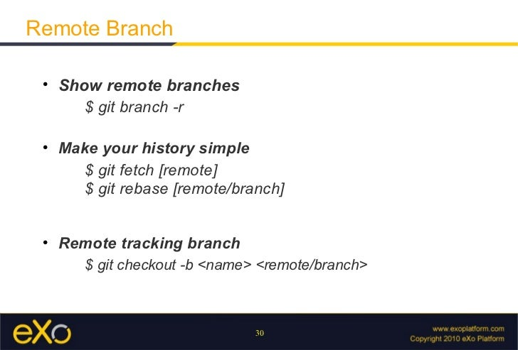 git show remote branches