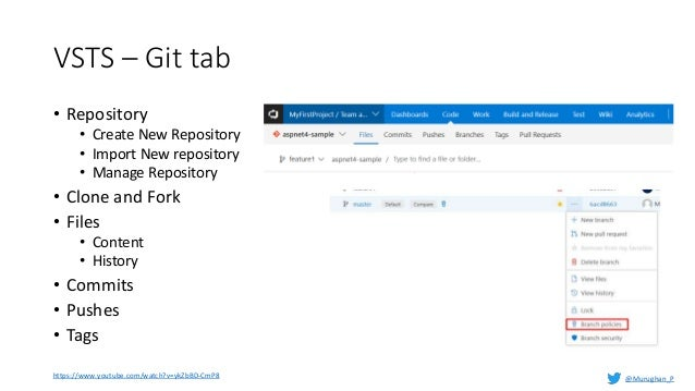 Git version control and trunk based approach with VSTS