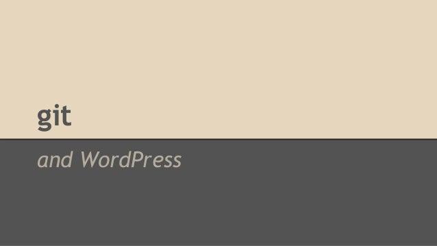 git and WordPress