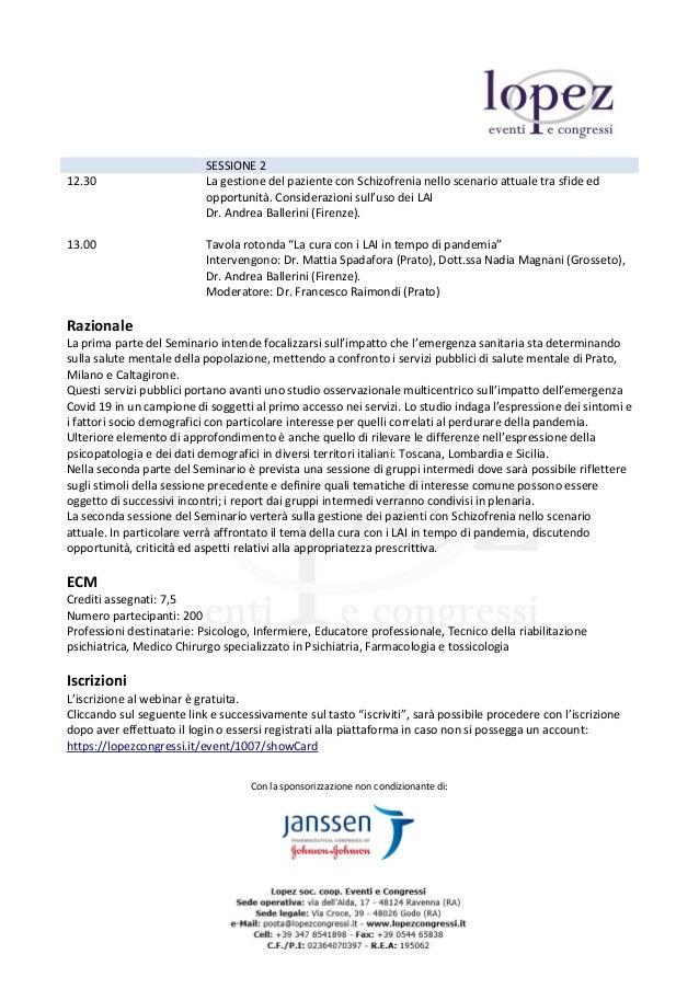 Contesto Pandemico e Salute Mentale, i servizi pubblici di Prato, Milano e Caltagirone a confronto Slide 2