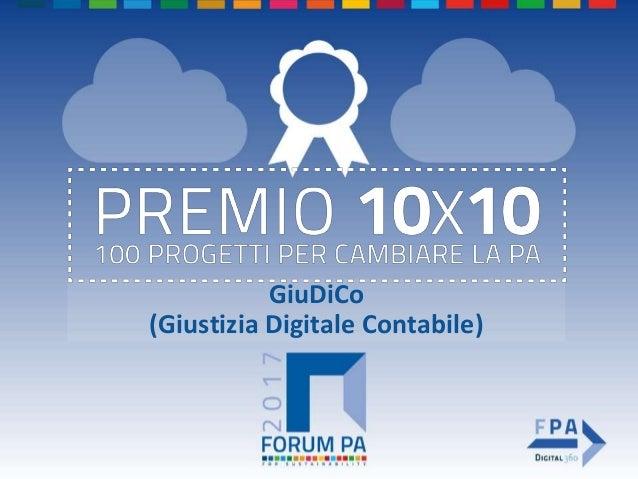 GiuDiCo (Giustizia Digitale Contabile)