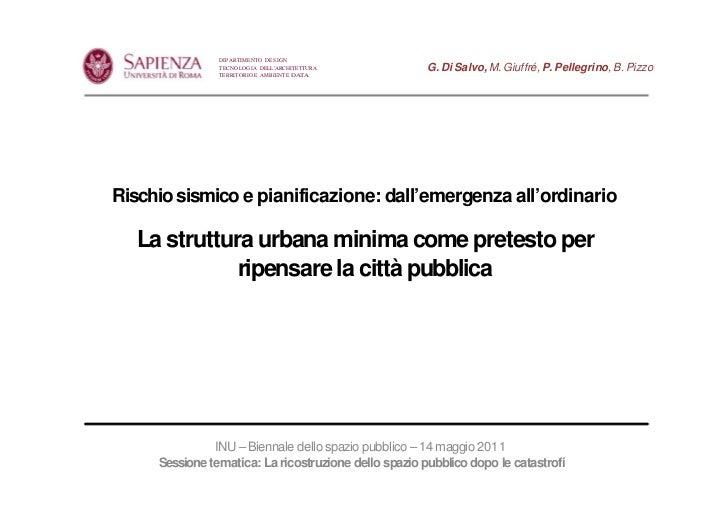 DIPARTIMENTO DESIGN                TECNOLOGIA DELLARCHITETTURA           G. Di Salvo, M. Giuffré, P. Pellegrino, B. Pizzo ...