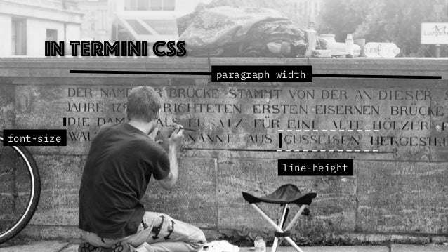 In termini CSS paragraph width font-size line-height