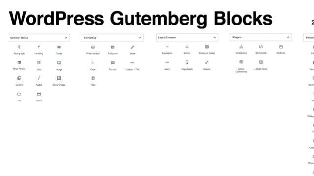 CUSTOM POST TYPES GUTENBERG Editor a blocchi HEADER 1, 2,3, ecc.