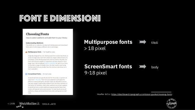 Hoefler & Co.: https://dashboard.typography.com/user-guide/choosing-fonts  Multipurpose fonts titoli > 18 pixel ScreenSmar...