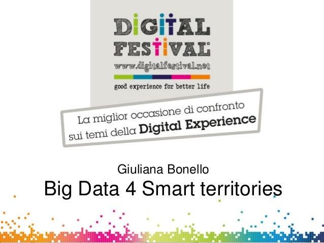 Giuliana BonelloCSI-PiemonteGiuliana BonelloBig Data 4 Smart territories