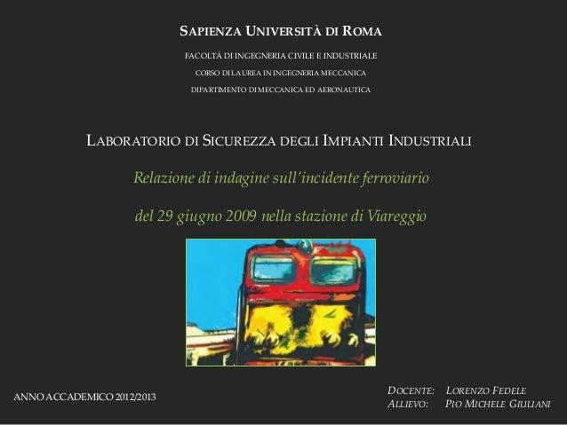 SAPIENZA UNIVERSITÀ DI ROMA                            FACOLTÀ DI INGEGNERIA CIVILE E INDUSTRIALE                         ...