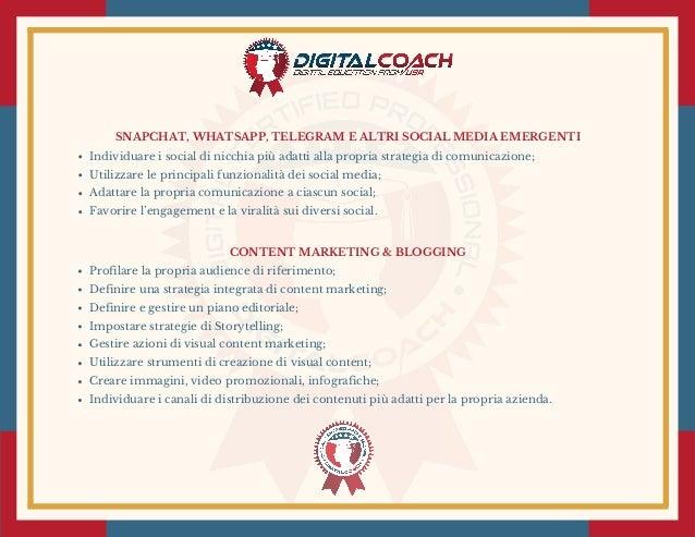 SNAPCHAT, WHATSAPP, TELEGRAM E ALTRI SOCIAL MEDIA EMERGENTI Individuare i social di nicchia più adatti alla propria strate...