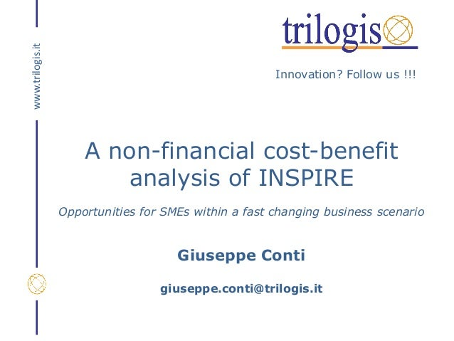 Innovation? Follow us !!! www.trilogis.it A non-financial cost-benefit analysis of INSPIRE Opportunities for SMEs within a...