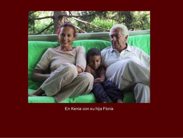 En Kenia con su hija Floria