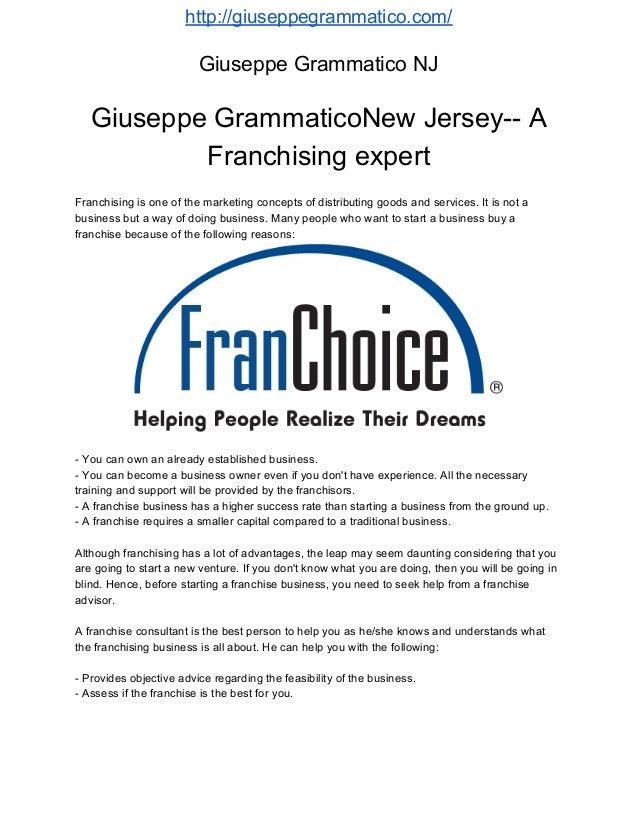 Giuseppe Grammatico franchise expert