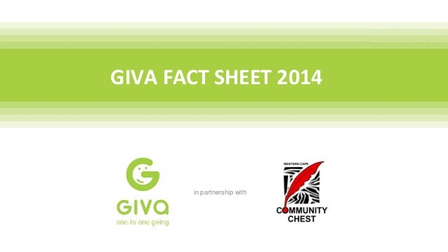 GIVA FACT SHEET 2014 in partnership with